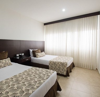 Stay in spacious rooms with 1 double bed and a ...