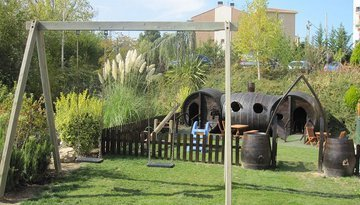 we have children's outdoor and indoor areas for the ...