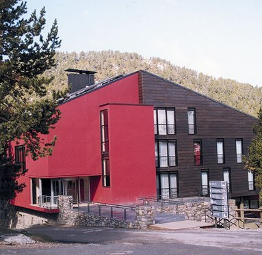 Main entrance in the nature of theSercotel Abrigall Masella.