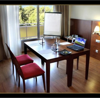 The hotel's private room is available for executive meetings