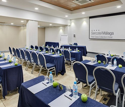 The Sercotel Malaga offers a 110 m2 room equipped with ...