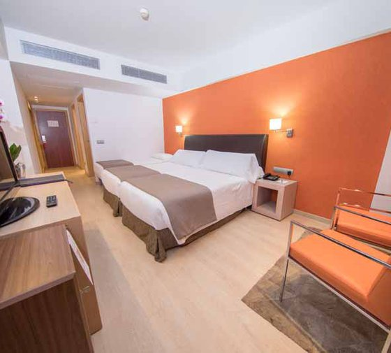 Double rooms at the Hotel Cristina Sercotel Las Palmas have ...