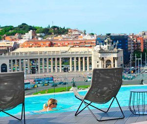 Enjoy a swim in the rooftop pool