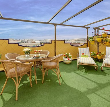 Marvel at the sights of Madrid from the terrace of ...