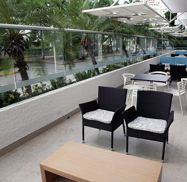 Cool off in the hotel terrace