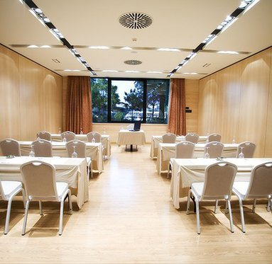 The Hotel function room is ideal for meetings in Seville.