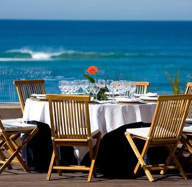 Enjoy the sea views from our restaurant