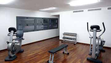 Keep in shape in our fitness area.