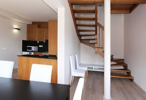 3 duplex apartments, each adapted to house up to 8 ...
