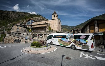 The tourist bus of Andorra is probably the most comfortable ...