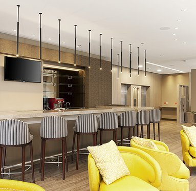 Enjoy the common areas of the hotel: bar, gym, business ...