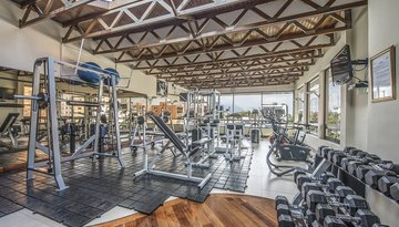 The hotel offers you access to a concertated gym.