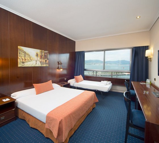 Our Hotel in Vigo has a double with extra bed, ...