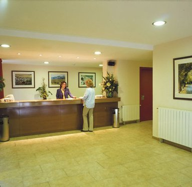 Information point and the Sercotel Abrigall Masella reception where you ...