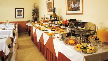 Start your day with our varied breakfast buffet