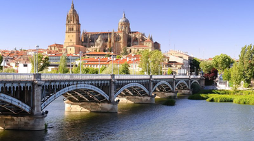 A magical visit to the historic city of Salamanca, Spain. Stay at Sercotel Las Torres Salamanca, located in the stunning Plaza Mayor (main square) in the heart of the city. 