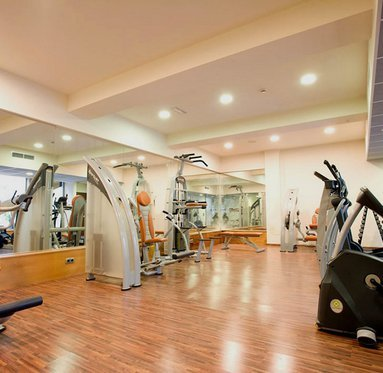 The hotel gym has the most modern equipments with comfortable ...