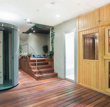 Sauna and Jacuzzi for 4 people available