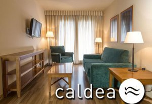 The Sercotel Shusski Aparthotel offers rooms with entrance to Caldea ...