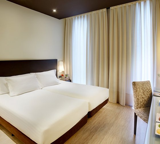 This hotel in Vitoria-Gasteiz has 24 double rooms that are ...
