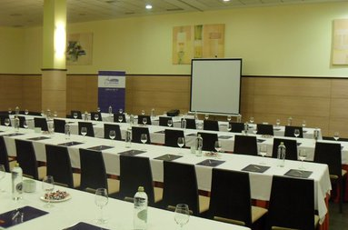 The hotel has a large room for meetings and celebrations