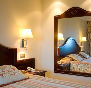 The Hotel offers double rooms, family suites and Royal Suites