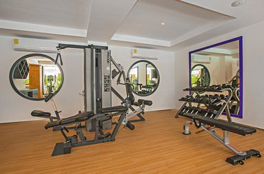 Get in shape in our gym.