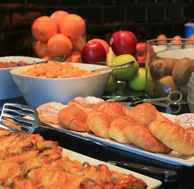 Variety and quality in our buffet breakfast