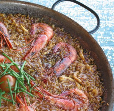 The paella is one of the specialties in our restaurant.