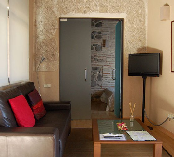 The apartment is 46m², consisting of a large living room ...