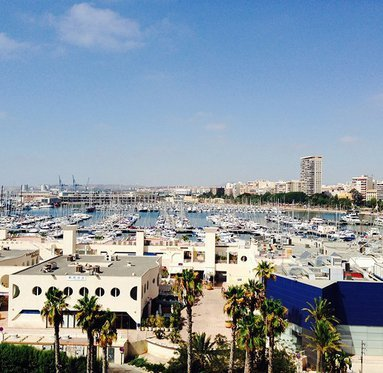 Overlooking the Marina in Alicante.