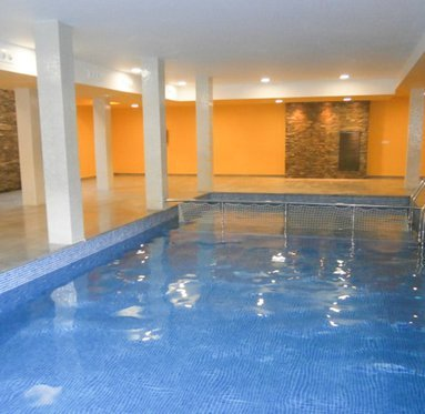 Enjoy an indoor swimming pool to relax with a swim ...
