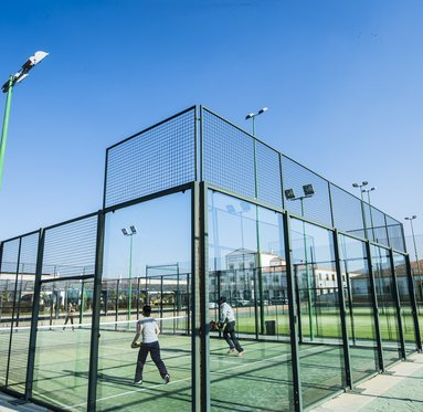 We have tennis and padel courts for you to enjoy ...
