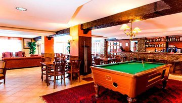 A designed space to unwind and play pool