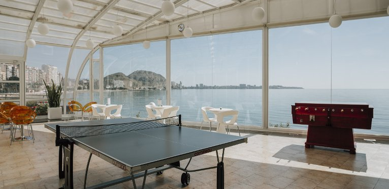 Enjoy beautiful views of the bay from our panoramic terrace.