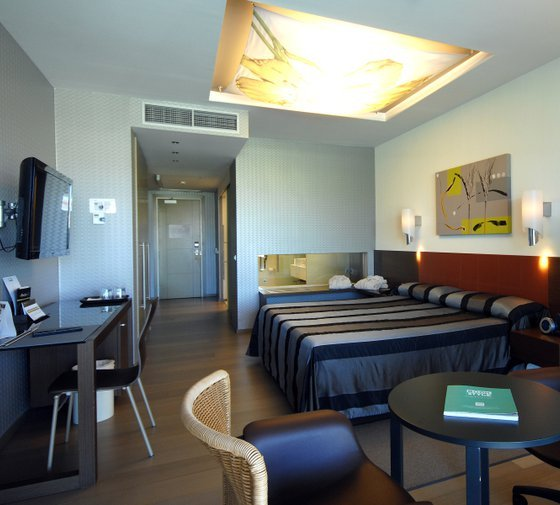 The Sercotel Encín Golf Hotel features spacious and well-lit 30-square-metre ...