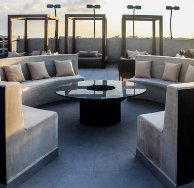 Our solarium is located on the rooftop