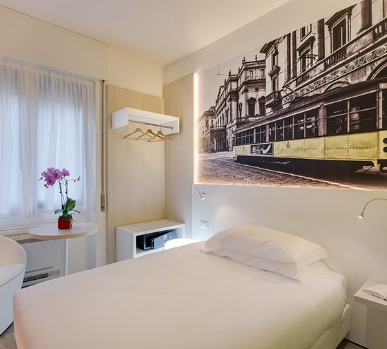 The Sercotel Viva Milano has 20 single guest rooms, with ...