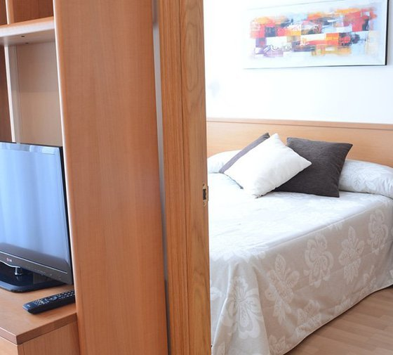 The Sercotel Huesca Apartment Hotel has five single rooms with ...