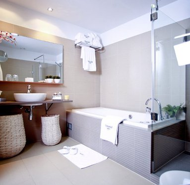 Spacious bathrooms for a pleasant stay