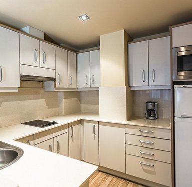 The apartments have fully equipped kitchen