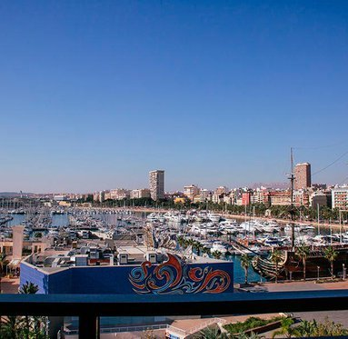 Views from the marina in Alicante.