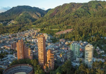 Bogota, the capital of Colombia, is located in the center ...